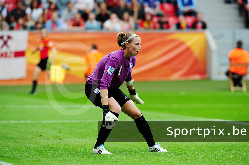 Fifa Women's World Cup Germany 2011 : England - France - at Leverkusen : Karen Bardsley.foto DAVID CATRY / Vrouwenteam.be