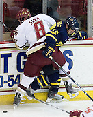 Edwin Shea (BC - 8), Brandon Brodhag (Merrimack - 12) - The Boston College Eagles defeated the Merrimack College Warriors 7-0 on Tuesday, February 23, 2010 at Conte Forum in Chestnut Hill, Massachusetts.