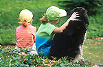 Sisters with springer spaniel (Boo) R#6801