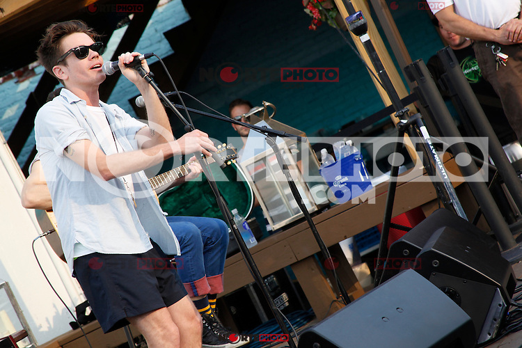 PHILADELPHIA, PA - AUGUST 2, 2012: fun. pictured at North Shore Beach Club in Philadelphia, Pa on August 2, 2012. © Star Shooter / MediaPunch Inc. /NortePhoto.com<br />
