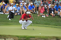 Bubba Watson (USA) on the 7th green during Thursday's Round 1 of the 2014 PGA Championship held at the Valhalla Club, Louisville, Kentucky.: Picture Eoin Clarke, www.golffile.ie: 7th August 2014