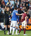 Ian Black booked by referee Callum Murray