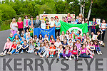 Sean Kelly MEP unvailed the European Union flag,  the Green environmental flag and the Active flag at  Kilgarvan NS when he visited on Friday