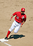 15 June 2006: Royce Clayton, shortstop for the Washington Nationals, rounds third and heads home against the Colorado Rockies at RFK Stadium, in Washington, DC. The Rockies defeated the Nationals, 8-1 to sweep the four-game series...Mandatory Photo Credit: Ed Wolfstein Photo...