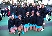 The Auckland team after the 2018 Netball NZ National Under-17 Championship final between Auckland 1 and Wellington A Black at Vautier Park in Palmerston North, New Zealand on Thursday, 19 July 2018. Photo: Dave Lintott / lintottphoto.co.nz