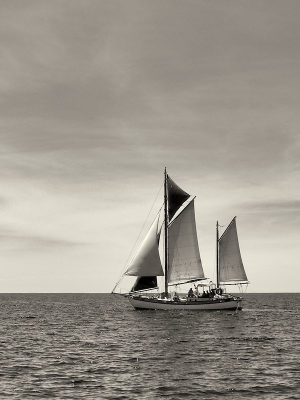 Sailboat near St. John Virgin Islands.