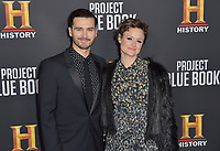 "03 January 2019 - Los Angeles, California - Michael Malarkey, Nadine Lewington. ""Project Blue Book"" History Scripted Series Los Angeles Premiere held at Simon House. Photo Credit: AdMedia"