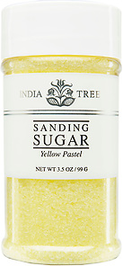 10234 Yellow Pastel Sanding Sugar, Small Jar 3.5 oz