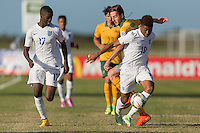Lakewood Ranch, FL - December. 2, 2014: The Brazilian Under-17 Men's National team and the National team of Australia in action during the 2014 Nike International Friendlies at Premier Sports Campus.