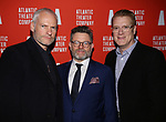 Playwright Martin McDonagh, director Matthew Dunster and managing director Jeffory Lawson attends the 'Hangmen' Opening Night After Party at the The Gallery at the Dream Downtown on February 5, 2018 in New York City.