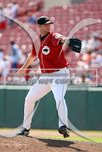 August 22 2008:  Pitcher Tom Mastny of the Buffalo Bisons, Class-AAA affiliate of the Cleveland Indians, during a game at Dunn Tire Park in Buffalo, NY.  Photo by:  Mike Janes/Four Seam Images