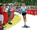 Roger Crowley/Times Argus.Daniel Barkhuff of Colchester was the first Vermont man across the finish line in 2:35:30 at the 20th Annual KeyBank Vermont City Marathon Sunday in Burlington.