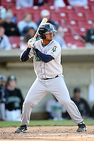 April 17 2010: Carlos Ramirez of the Cedar Rapids Kernels at Elfstrom Stadium in Geneva, IL. The Kernels are the Low A affiliate of the Los Angeles Angels. Photo by: Chris Proctor/Four Seam Images