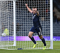19th November 2019; Hampden Park, Glasgow, Scotland; European Championships 2020 Qualifier, Scotland versus Kazakhstan; John McGinn of Scotland celebrates after he makes it 3-1 to Scotland in the 90th minute - Editorial Use