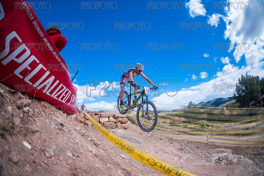 Chelva, SPAIN - MARCH 6: Zaragoza Anthony during Spanish Open BTT XCO on March 6, 2016 in Chelva, Spain