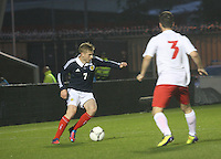 Stuart Armstrong in the Scotland v Luxembourg UEFA Under 21 international qualifying match at St Mirren Park, Paisley on 6.9.12.