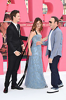 "Ansel Elgort, Lily James and Kevin Spacey<br /> at the ""Baby Driver"" premiere, Cineworld Empire Leicester Square, London. <br /> <br /> <br /> ©Ash Knotek  D3285  21/06/2017"