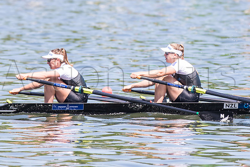 June 18th 2017; Poznan, Poland; 2017 World Rowing Cup II; Final A  Brooke Donoghue, Olivia Loe (NZL) Womens Two