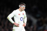 Jonny May of England looks on during a break in play. RBS Six Nations match between England and France on February 4, 2017 at Twickenham Stadium in London, England. Photo by: Patrick Khachfe / Onside Images
