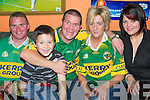 Shouting for Kerry in The Huddle Bar were l/r Mido O'Heara, Kevin MacPhee, Jimmy O'Heara, Theresa Diuri and Laura Hussy....................................... ............   Copyright Kerry's Eye 2008