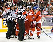 Zdenek Okal (Czech Republic - 11), Jan Eberle (Czech Republic - 24), Rudolf Cerveny (Czech Republic - 21) - Team Canada defeated the Czech Republic 8-1 on the evening of Friday, December 26, 2008, at Scotiabank Place in Kanata (Ottawa), Ontario during the 2009 World Juniors U20 Championship.