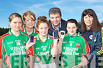 Kilcummin GAA club are appealing for people to donate their old mobile phones to help raise funds for thei ladies football launching it on Sunday was l-r: Rachel Carey, Eilish O'Leary, Kayleigh O'Leary, Colm Brosnan, Alisa O'Sullivan and Mary Courtney..