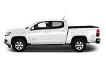 Car Driver side profile view of a 2019 Chevrolet Colorado WT 4 Door Pick-up Side View