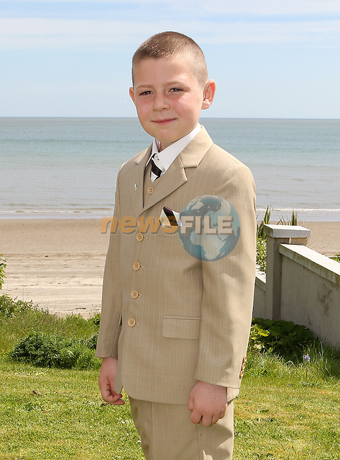 Daniel Cusack pictured at Laytown Church on first communion day last Saturday.<br /> Picture: www.newsfile.ie