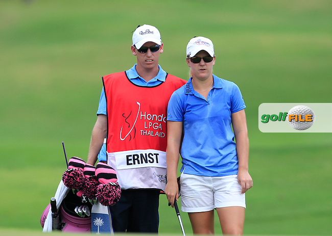 Austin Ernst (USA) on the 10th fairway during Round 1 of the Honda LPGA Thailand on Thursday 23rd February 2017.<br /> Picture:  Thos Caffrey / Golffile