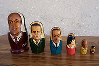 LOS ANGELES - AUG 17: OJ Simpson trial stack dolls at the OJ Simpson pop-up museum at the Coagula Curatorial Gallery on August 12, 2017 in Los Angeles, California