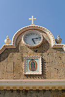 Facade of 19th-century Lady of Guadalupe Church in the Village of El Quelite near Mazatlan, Sinaloa, Mexico