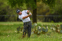 Graeme McDowell (NIR) hits his second shot from the rough on 1 during day 4 of the Valero Texas Open, at the TPC San Antonio Oaks Course, San Antonio, Texas, USA. 4/7/2019.<br /> Picture: Golffile | Ken Murray<br /> <br /> <br /> All photo usage must carry mandatory copyright credit (© Golffile | Ken Murray)