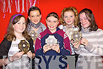 At the presentation of awards for Olympic Handball at the Duagh/Lyre community games at Duadg national school hall on Friday night were Niamh Duffy, Chole Horan, Paula Duffy, Maire?ad McNamara and Aisling Mangan...   Copyright Kerry's Eye 2008