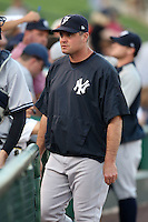 September 4, 2009:  Pitching Coach Scott Aldred of the Scranton Wilkes-Barre Yankees before a game at Frontier Field in Rochester, NY.  Scranton is the Triple-A International League affiliate of the New York Yankees and clinched the North Division Title with a victory over Rochester.  Photo By Mike Janes/Four Seam Images