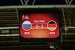 26.07.2017, Stadion Galgenwaard, Utrecht, NLD, Tilburg, UEFA Women's Euro 2017, Russland (RUS) vs Deutschland (GER), <br /> <br /> im Bild | picture shows<br /> Anzeigetafel Endstand 2:0, <br /> <br /> Foto © nordphoto / Rauch
