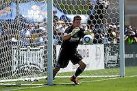 Joe Cannon makes the save. San Jose Earthquakes tied  Tottenham Hotspur 0-0 at Buck Shaw Stadium in Santa Clara, California on July 17th, 2010.