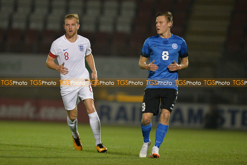 Ryan Croasdale of England C and AFC Fylde during England C vs Estonia Under-23, International Friendly Match Football at The Breyer Group Stadium on 10th October 2018