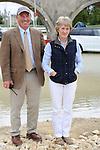 Course Designer Capt. Mark Phillips and Event Director Elizabeth Inman during the Media Day held ahead of the 2014 Land Rover Burghley Horse Trials