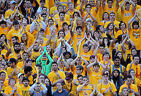 Nov. 28, 2009; Tempe, AZ, USA; Arizona State Sun Devils fans in the crowd signal safety during the game against the Arizona Wildcats at Sun Devil Stadium. Arizona defeated Arizona State 20-17. Mandatory Credit: Mark J. Rebilas-