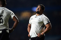 Campese Ma'afu of Fiji watches a replay on the big screen. Rugby World Cup Pool A match between England and Fiji on September 18, 2015 at Twickenham Stadium in London, England. Photo by: Patrick Khachfe / Onside Images
