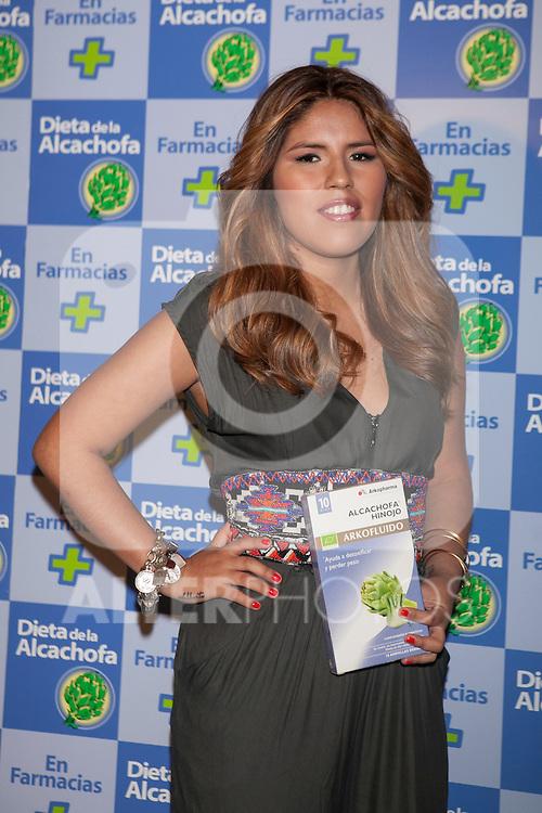 Chabelita, hija de Isabel Pantoja, presenta la Dieta de la Alcachofa en Madrid, Spain. May 20, 2014. (ALTERPHOTOS/Blanco)
