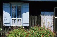 Europe/France/Aquitaine/33/Gironde/Bassin d'Arcachon/Le Cap Ferret: Détail d'une maison au village des pêcheurs
