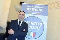 Roma, 18 Giugno 2013<br /> Hotel Nazionale<br /> Nasce &quot;L'esercito di Silvio&quot;, presentazione del movimento politico in difesa di Silvio Berlusconi fondato da Simone Furlan nella foto