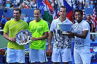 Radek Stepanek (Cze) and Leander Paes (Ind) vs Alexander Peya (Aut) and Bruno Soares (Bre) <br /> Flushing Meadows 08/09/2013<br /> Tennis US Open Finale <br /> Foto Panoramic / Insidefoto<br /> ITALY ONLY