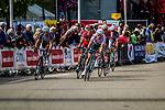 Points sprint at first passage of finish line Ronan van Zandbeek , Stage 3 Buchten - Buchten, Ster ZLM Toer, Buchten, The Netherlands, 20th June 2014, Photo by Thomas van Bracht / Peloton Photos