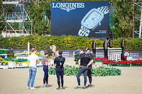 Team NZL take a look at the warm up course. 2017 ESP-Longines FEI Nations Cup Jumping Final - CSIO Barcelona. Real Club de Polo de Barcelona. Wednesday 27 September. Copyright Photo: Libby Law Photography