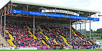 Lincoln City fans in the Selenity Stand, during the second half<br /> <br /> Photographer Andrew Vaughan/CameraSport<br /> <br /> The EFL Sky Bet League Two - Lincoln City v Morecambe - Saturday August 12th 2017 - Sincil Bank - Lincoln<br /> <br /> World Copyright &copy; 2017 CameraSport. All rights reserved. 43 Linden Ave. Countesthorpe. Leicester. England. LE8 5PG - Tel: +44 (0) 116 277 4147 - admin@camerasport.com - www.camerasport.com