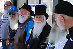 Competitors line up in the whitest beard category in the annual Nevada Day Beard Contest  in Carson City, Nev., on Saturday, October 28, 2017. <br /> Photo by Lance Iversen/Nevada Momentum
