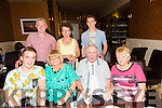 Having a birthday celebration dinner in Darcy's on Thursday evening were front l-r Kevin Brosnan, Noreen Reidy (birthday Girl),from Killeen,Tralee,Terry McSweeney from Connelly Park also celebrating his birthday and Helen McSweeney. Back l-r Eamon Reidy, Mary Reidy and Luke Reidy