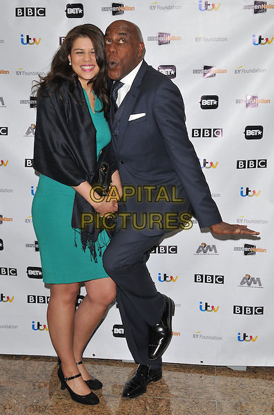 Maddie Harriott &amp; Ainsley Harriott attend the 11th Annual Screen Nation Film &amp; Television Awards 2016, Hilton London Metropole Hotel, Edgware Road, London, UK, on Saturday 19 March 2016.<br /> CAP/CAN<br /> &copy;Can Nguyen/Capital Pictures
